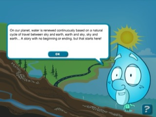 Worksheets Speech In Watercycl the water cycle history of hydroelectricity in quebec credits screen featuring a character form drop with cartoon speech bubble presenting introductory text there is