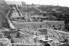 1900: building the foundations for the No 1 and N.A.C. generating stations