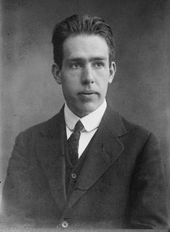 Photo of Niels Bohr at the onset of his career
