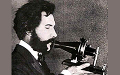 Photo of Alexander Graham Bell at the onset of his career