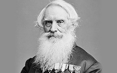 Photo of Samuel Morse towards the end of his life